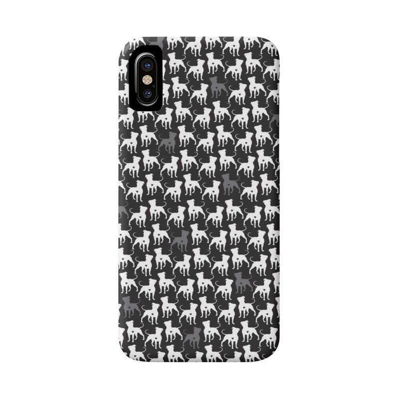 Pittie Love Noir in iPhone X / XS Phone Case Slim by Pittie Chicks