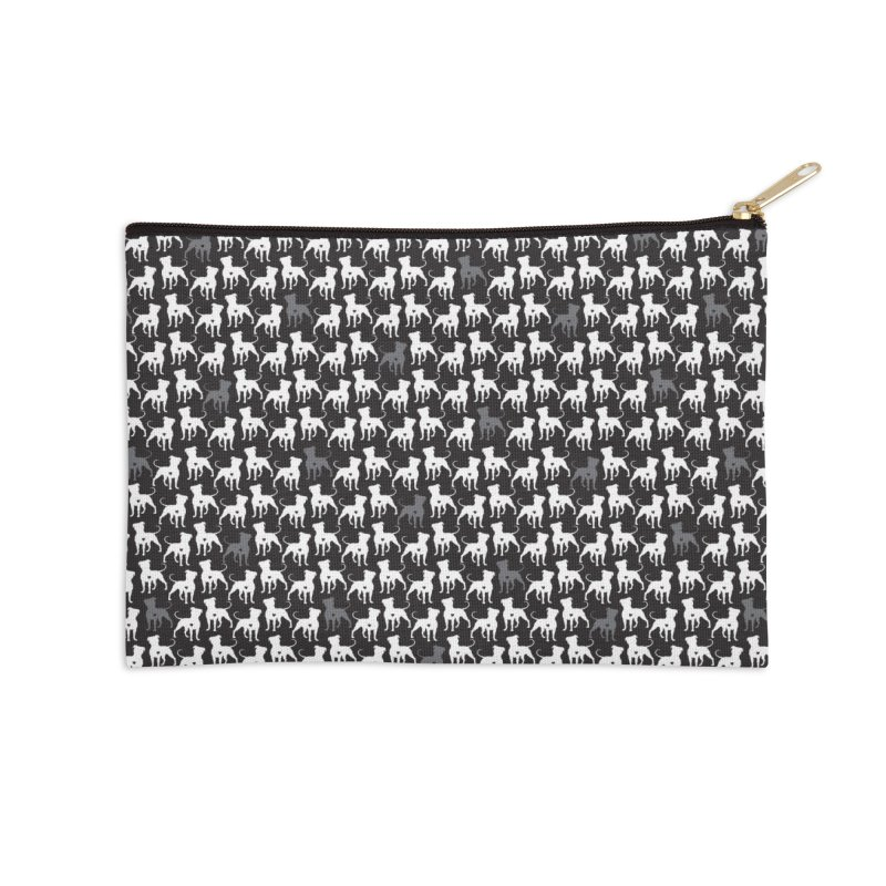 Pittie Love Noir Accessories Zip Pouch by Pittie Chicks