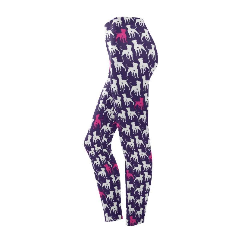 Pittie Love Purple Leggings Women's Bottoms by Pittie Chicks