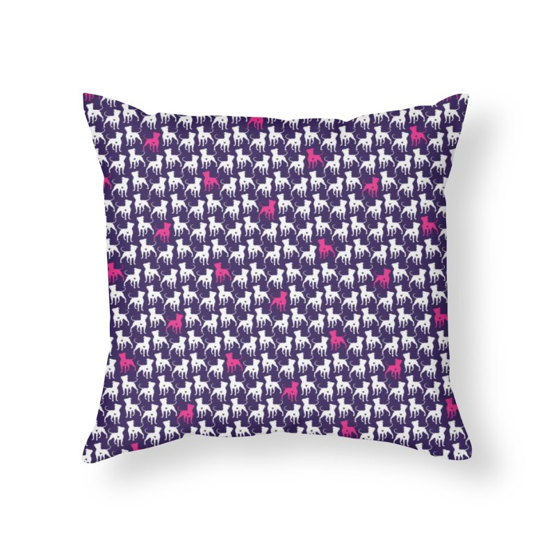 Pittie Love Purple Leggings Home Throw Pillow by Pittie Chicks