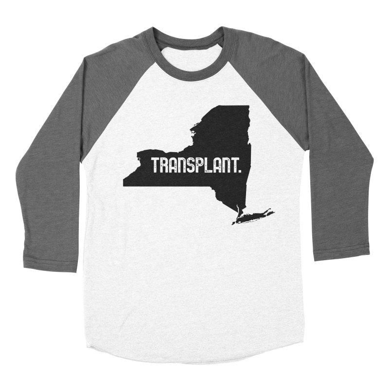 NY Transplant Women's Baseball Triblend Longsleeve T-Shirt by Pittie Chicks