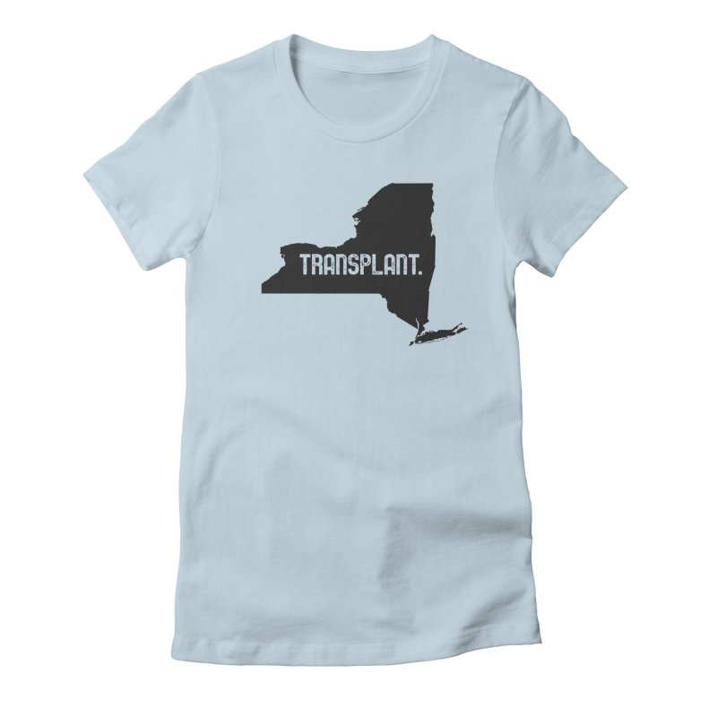 NY Transplant Women's Fitted T-Shirt by Pittie Chicks
