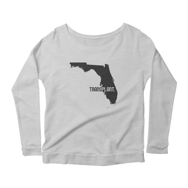 FL Transplant Women's Scoop Neck Longsleeve T-Shirt by Pittie Chicks