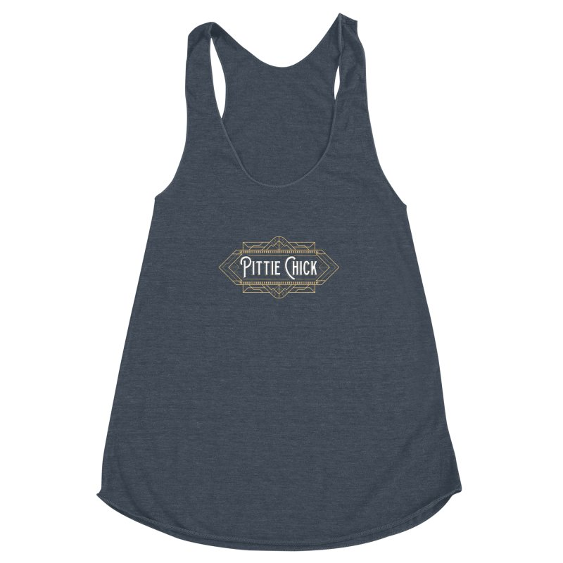 Art Deco Chick Women's Racerback Triblend Tank by Pittie Chicks