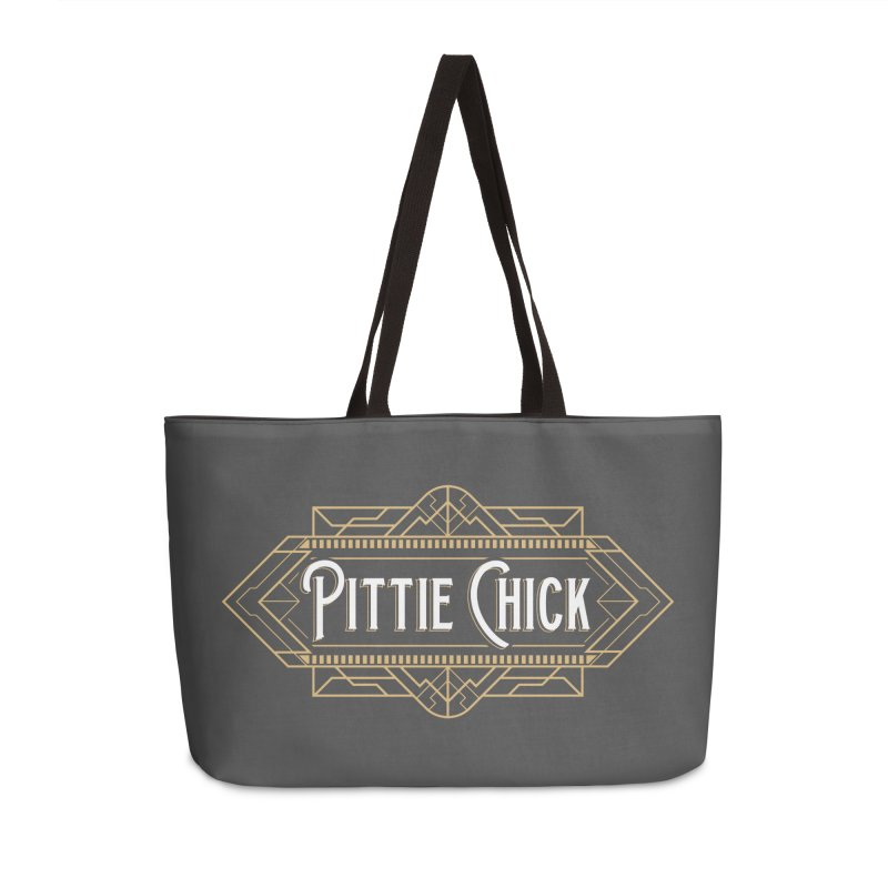 Art Deco Chick Accessories Weekender Bag Bag by Pittie Chicks