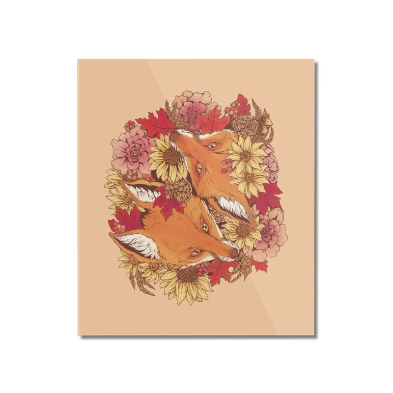 Autumn Fox Bloom Home Mounted Acrylic Print by Plaguedog's Shop