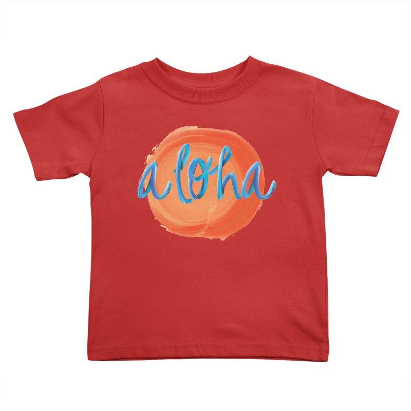 Aloha! Kids Toddler T-Shirt by Pnkflpflps's Artist Shop