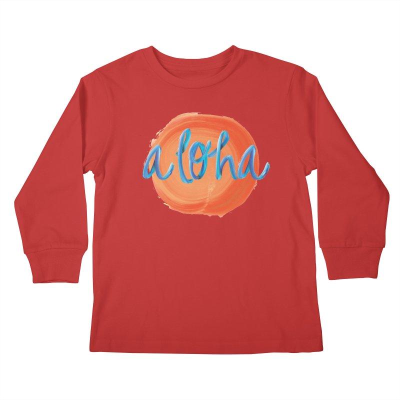 Aloha! Kids Longsleeve T-Shirt by Pnkflpflps's Artist Shop