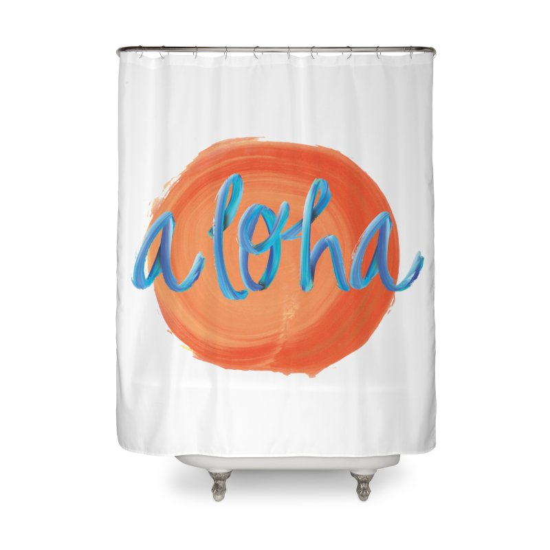 Aloha! Home Shower Curtain by Pnkflpflps's Artist Shop