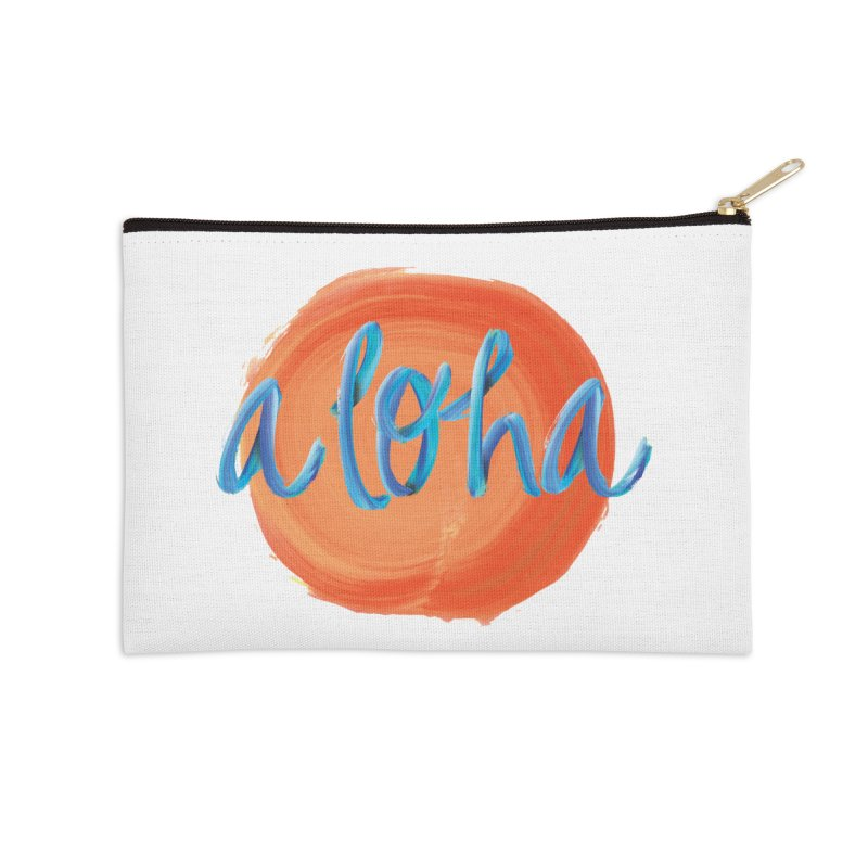 Aloha! Accessories Zip Pouch by Pnkflpflps's Artist Shop