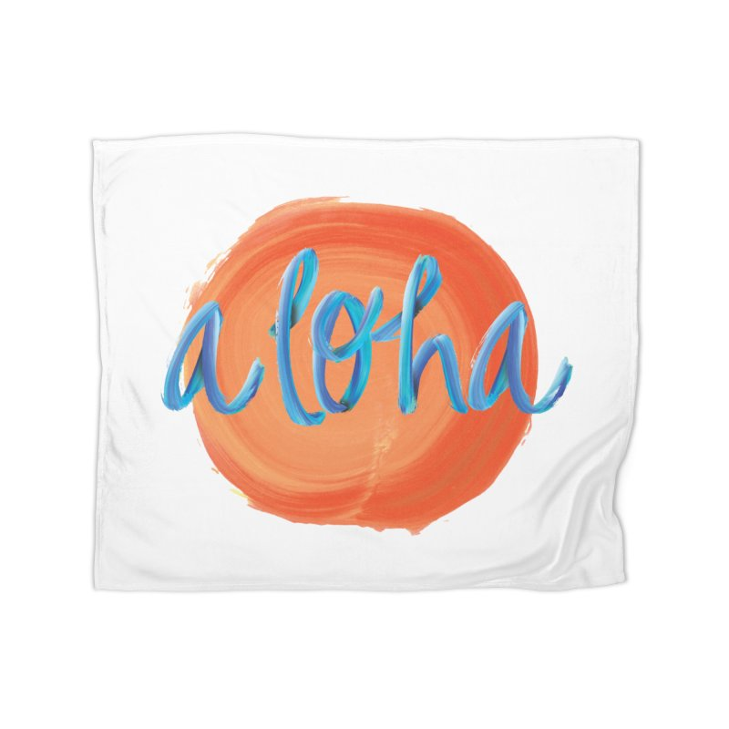 Aloha! Home Fleece Blanket Blanket by Pnkflpflps's Artist Shop