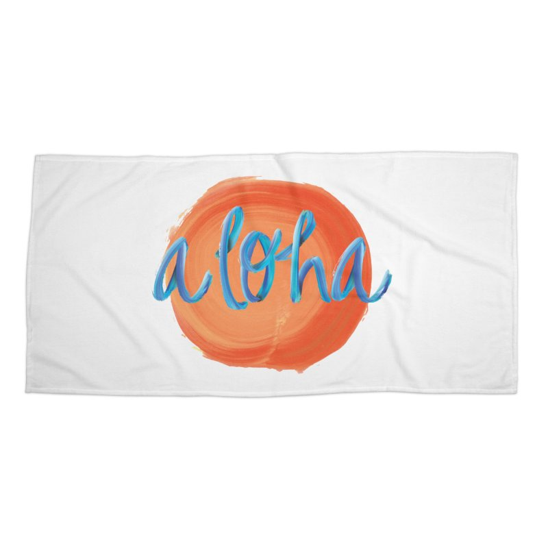 Aloha! Accessories Beach Towel by Pnkflpflps's Artist Shop