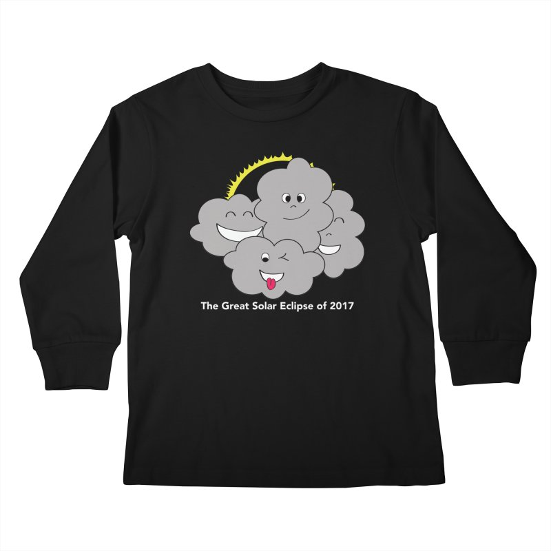 The Great Solar Eclipse of 2017 Kids Longsleeve T-Shirt by Pnkflpflps's Artist Shop