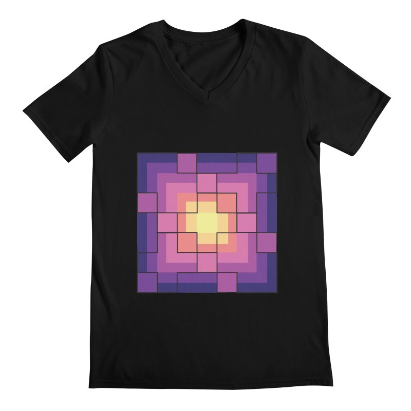 color blocks! Men's Regular V-Neck by Pnkflpflps's Artist Shop
