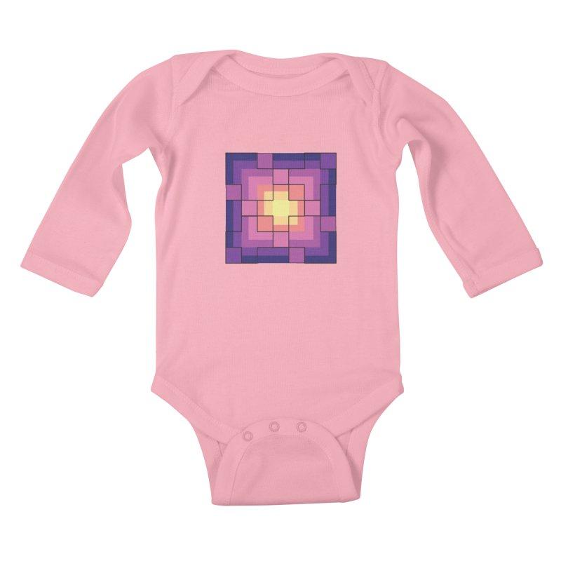 color blocks! Kids Baby Longsleeve Bodysuit by Pnkflpflps's Artist Shop