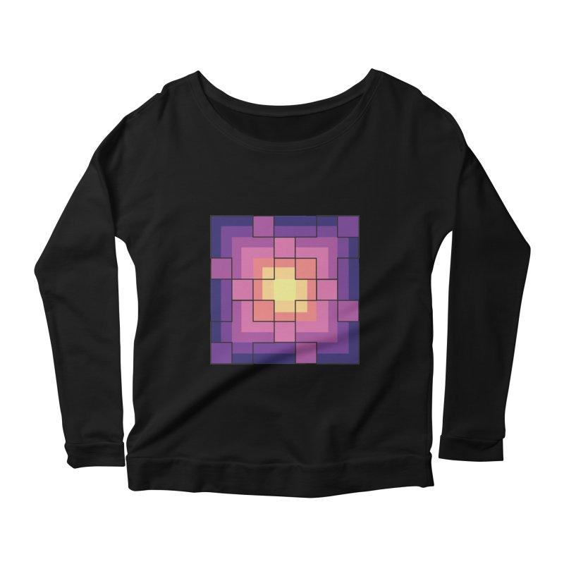 color blocks! Women's Scoop Neck Longsleeve T-Shirt by Pnkflpflps's Artist Shop