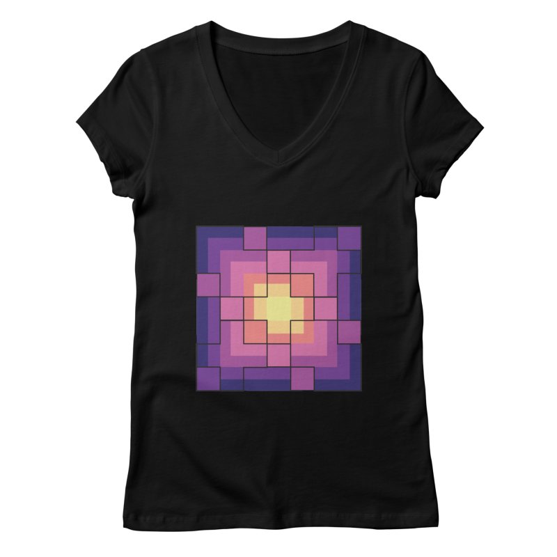 color blocks! Women's V-Neck by Pnkflpflps's Artist Shop