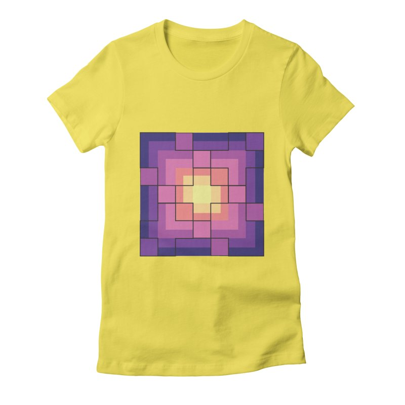 color blocks! Women's Fitted T-Shirt by Pnkflpflps's Artist Shop