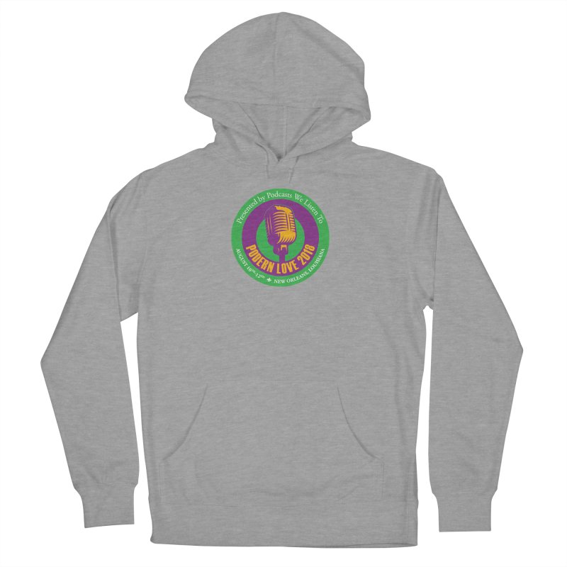 PodernLove 2018 in Men's French Terry Pullover Hoody Heather Graphite by Podcasts We Listen To
