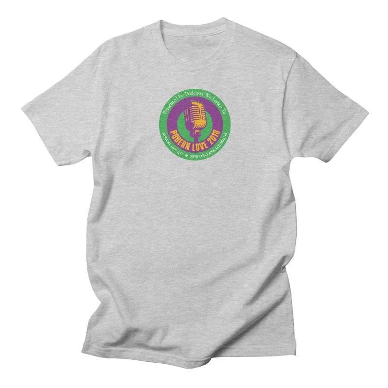 PodernLove 2018 in Men's Regular T-Shirt Heather Grey by Podcasts We Listen To