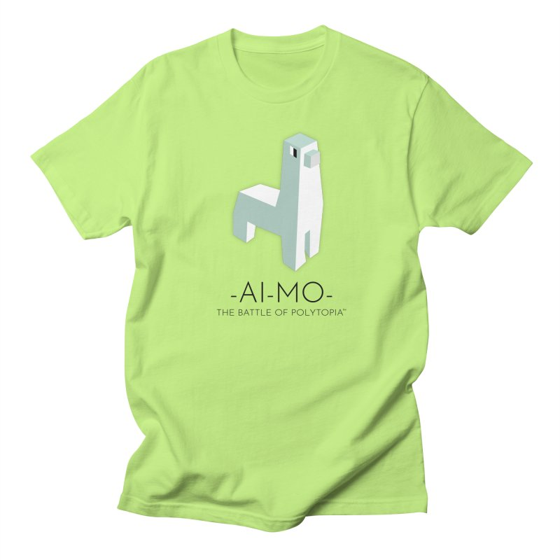 AI MO TEE in Men's Regular T-Shirt Neon Green by Polytopia shop of souvenirs