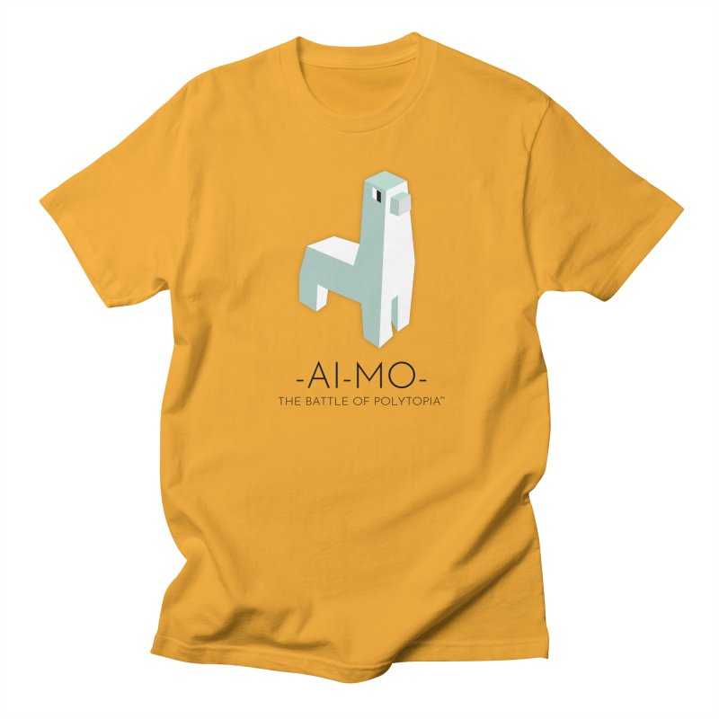 AI MO TEE in Men's Regular T-Shirt Gold by Polytopia shop of souvenirs
