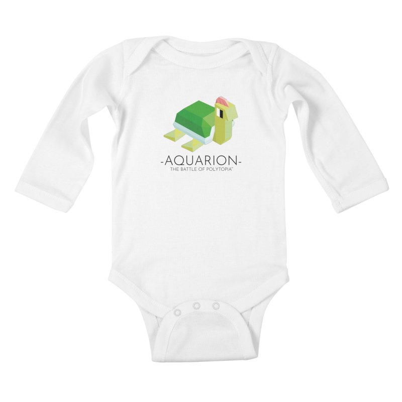 AQUARION TEE Kids Baby Longsleeve Bodysuit by Polytopia shop of souvenirs
