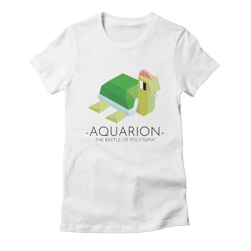 AQUARION TEE Women's Fitted T-Shirt by Polytopia shop of souvenirs