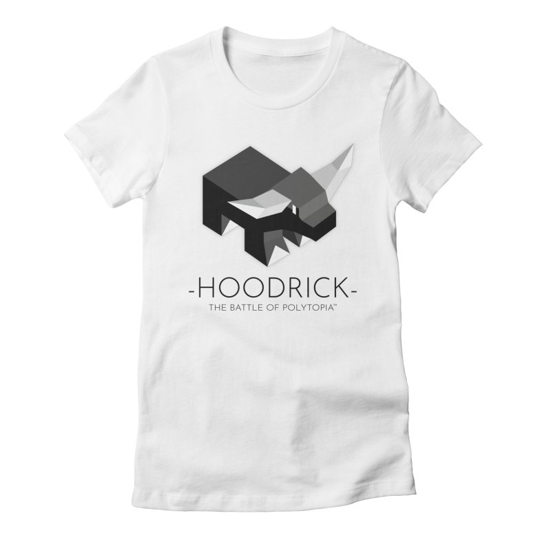 HOODRICK TEE Women's Fitted T-Shirt by Polytopia shop of souvenirs