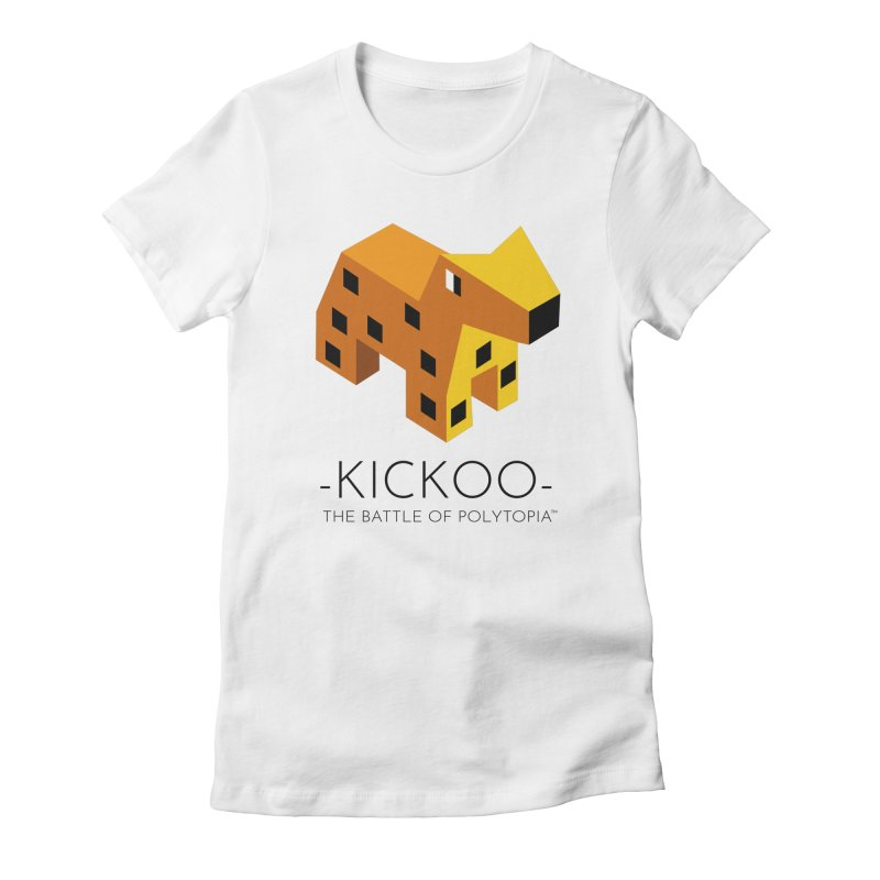 KICKOO TEE Women's Fitted T-Shirt by Polytopia shop of souvenirs