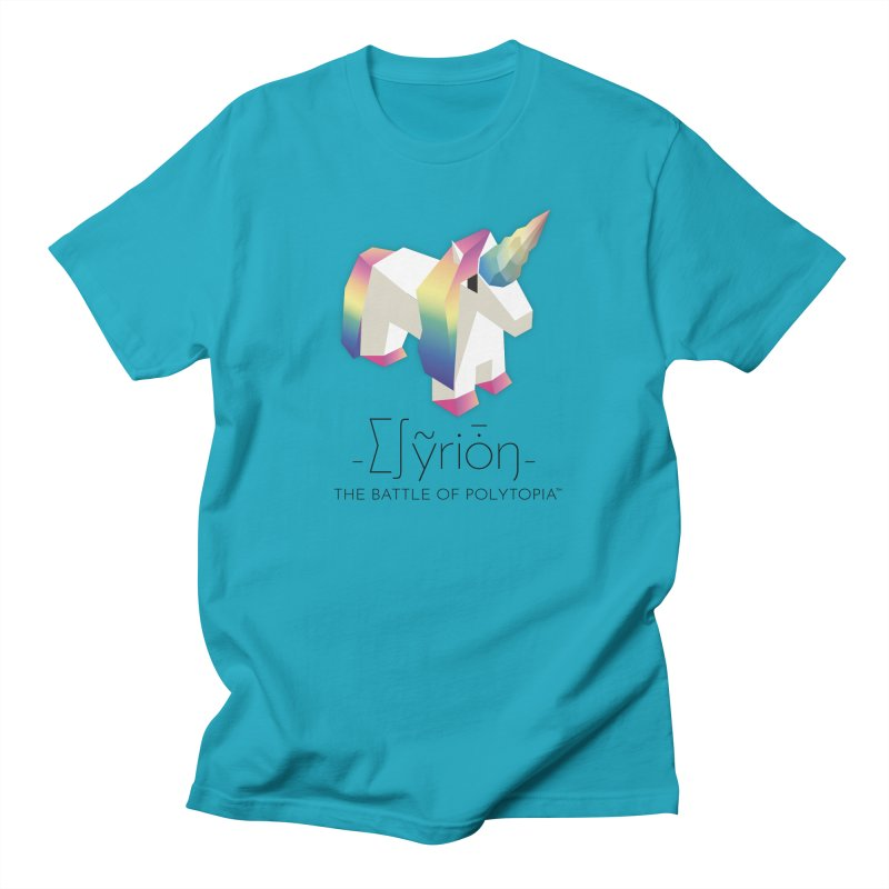 ∑∫ỹriȱŋ TEE in Men's T-Shirt Cyan by Polytopia shop of souvenirs