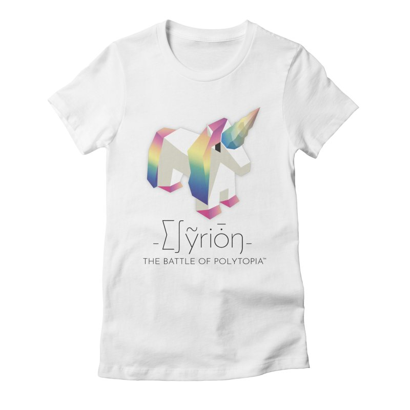 ∑∫ỹriȱŋ TEE Women's Fitted T-Shirt by Polytopia shop of souvenirs