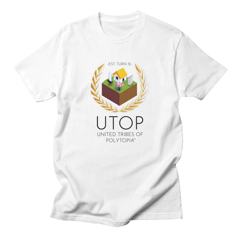 POLYTOPIA TEE WHITE in Men's Regular T-Shirt White by Polytopia shop of souvenirs