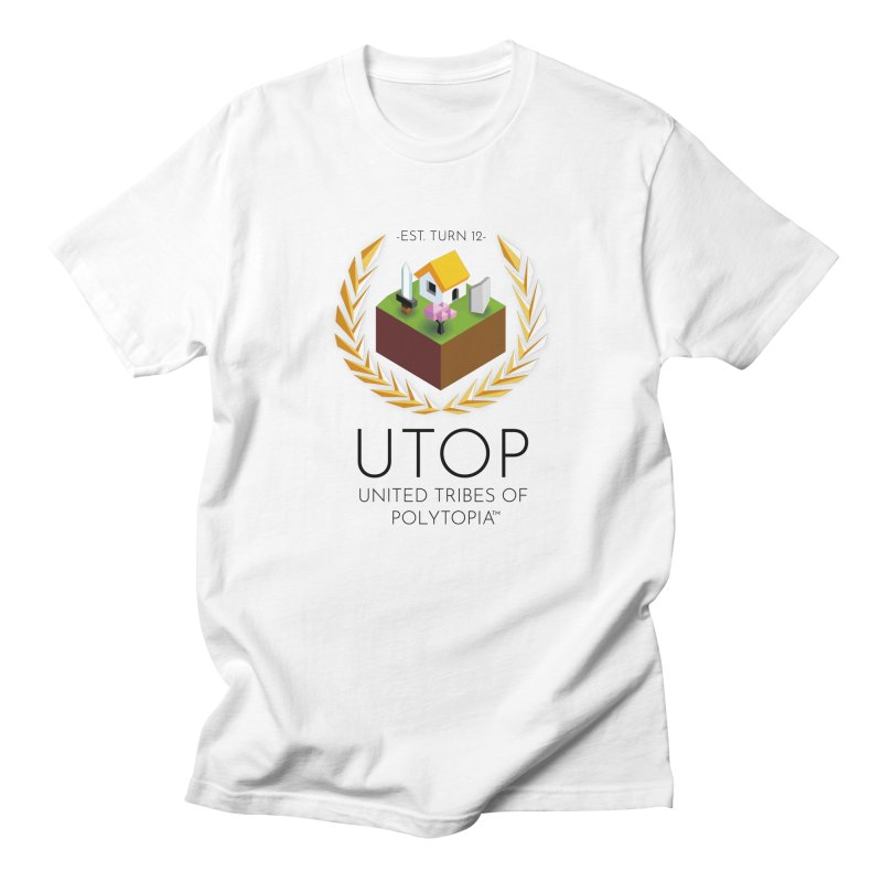 POLYTOPIA TEE WHITE Men's Regular T-Shirt by Polytopia shop of souvenirs