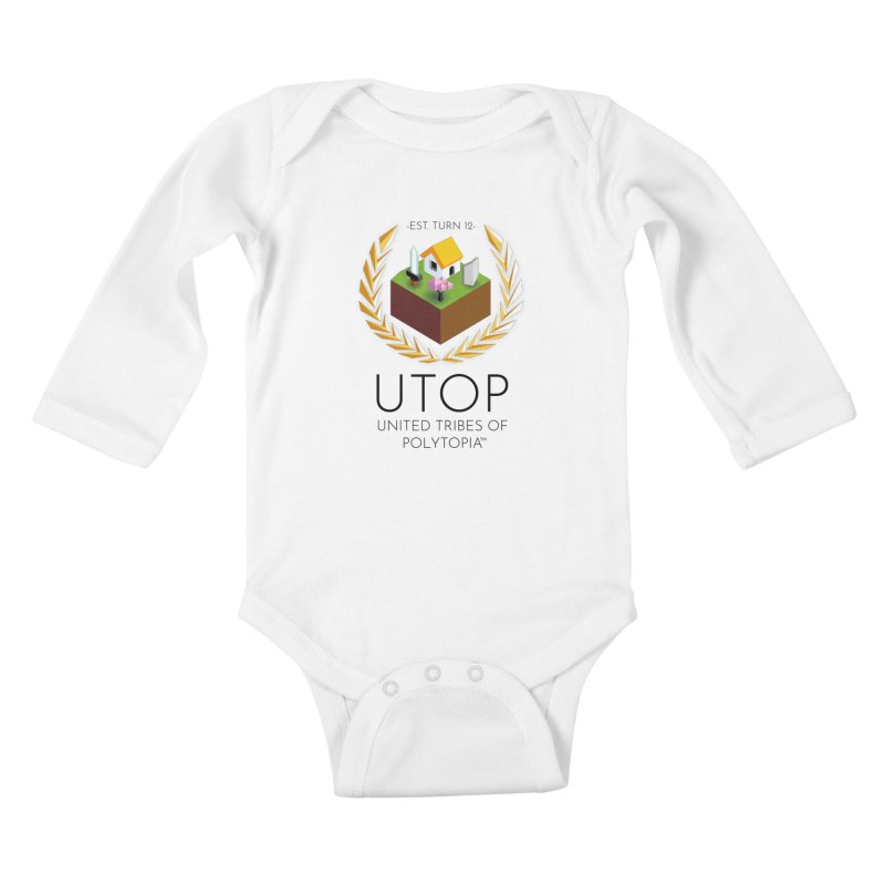 POLYTOPIA TEE WHITE Kids Baby Longsleeve Bodysuit by Polytopia shop of souvenirs