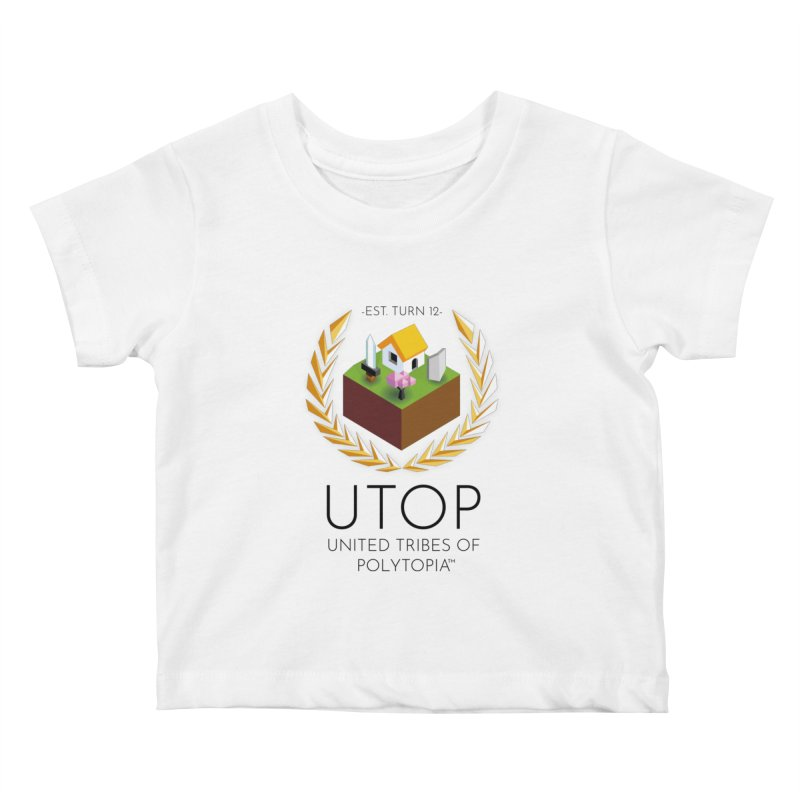 POLYTOPIA TEE WHITE Kids Baby T-Shirt by Polytopia shop of souvenirs