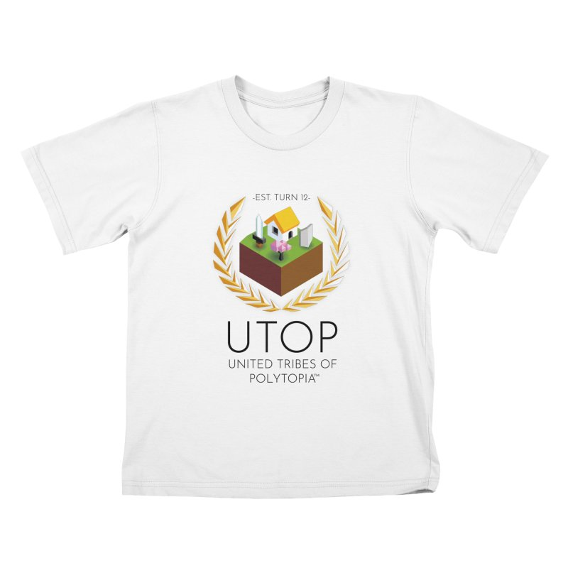 POLYTOPIA TEE WHITE Kids T-Shirt by Polytopia shop of souvenirs