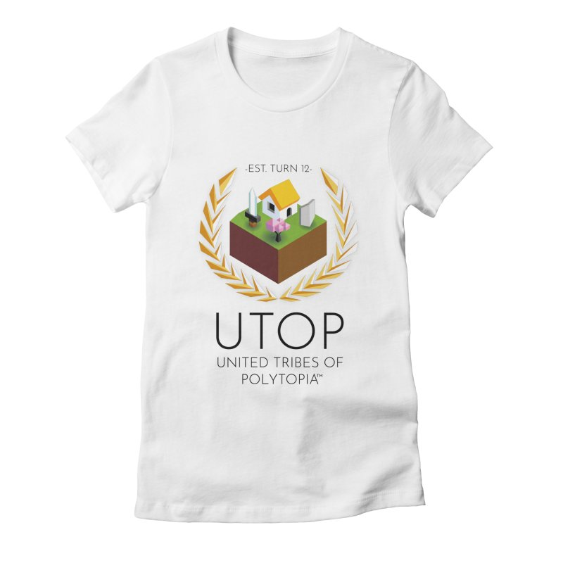 POLYTOPIA TEE WHITE Women's Fitted T-Shirt by Polytopia shop of souvenirs