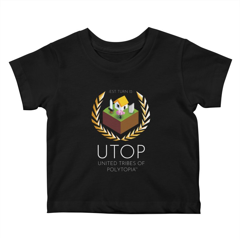 POLYTOPIA TEE BLACK Kids Baby T-Shirt by Polytopia shop of souvenirs