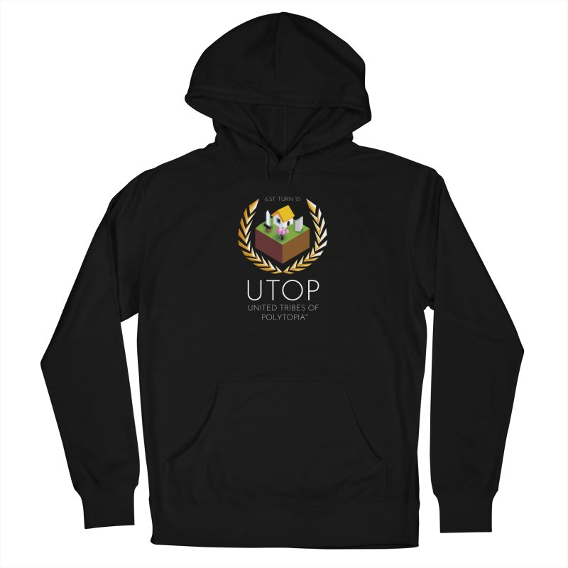 POLYTOPIA HOODIE BLACK Women's French Terry Pullover Hoody by Polytopia shop of souvenirs