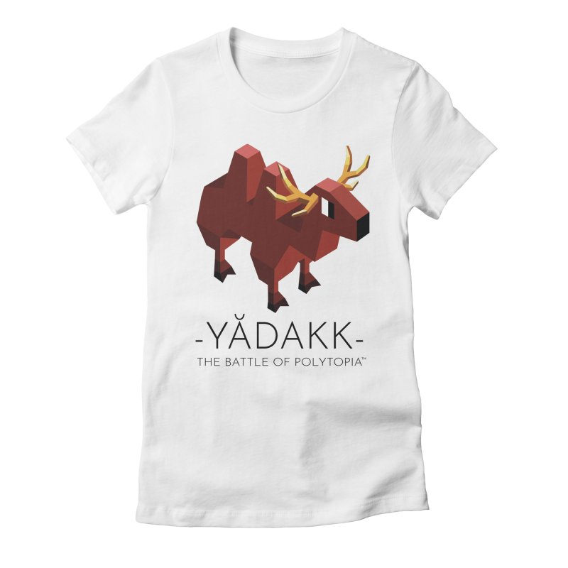 YĂDAKK TEE Women's Fitted T-Shirt by Polytopia shop of souvenirs