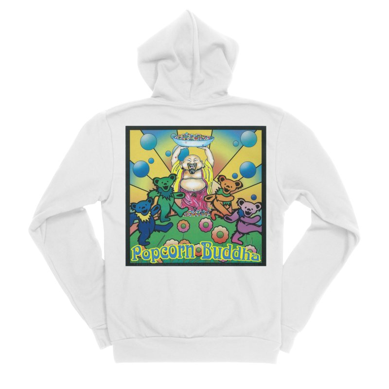 Grateful Popcorn Bears (Great for making your own tie-dye!) Men's Zip-Up Hoody by Popcorn Buddha Merchandise