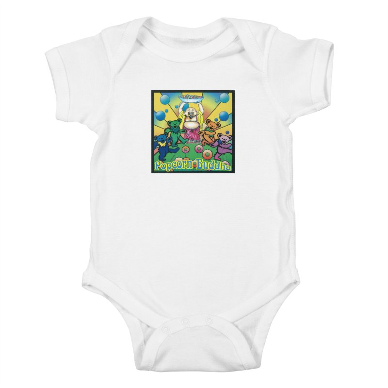 Grateful Popcorn Bears (Great for making your own tie-dye!) Kids Baby Bodysuit by Popcorn Buddha Merchandise