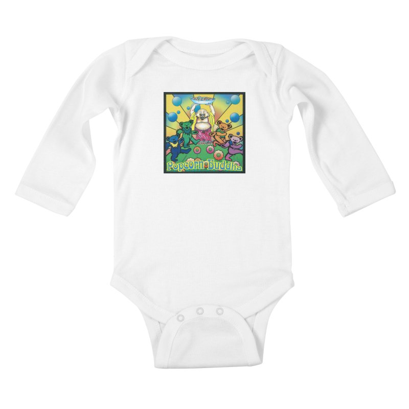 Grateful Popcorn Bears (Great for making your own tie-dye!) Kids Baby Longsleeve Bodysuit by Popcorn Buddha Merchandise