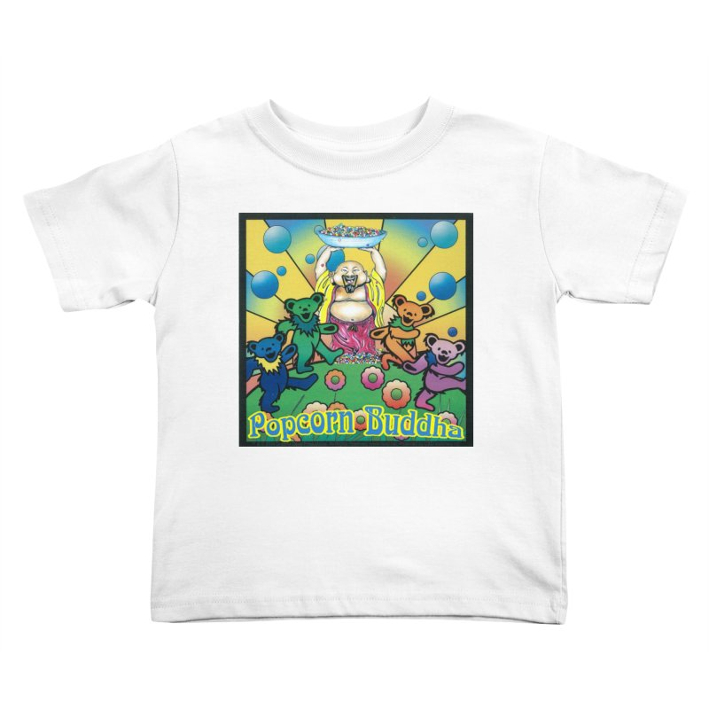 Grateful Popcorn Bears (Great for making your own tie-dye!) Kids Toddler T-Shirt by Popcorn Buddha Merchandise