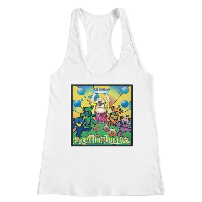 Grateful Popcorn Bears (Great for making your own tie-dye!) Women's Tank by Popcorn Buddha Merchandise