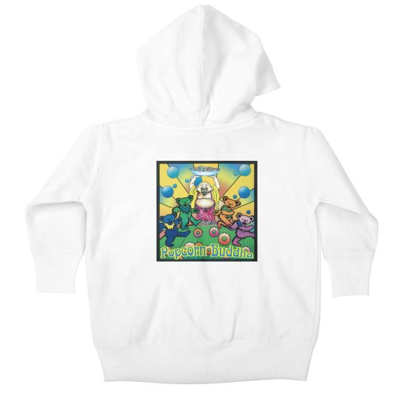 Grateful Popcorn Bears (Great for making your own tie-dye!) Kids Baby Zip-Up Hoody by Popcorn Buddha Merchandise
