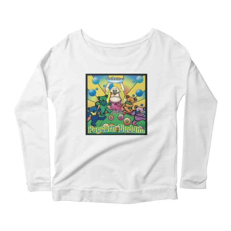 Grateful Popcorn Bears (Great for making your own tie-dye!) Women's Longsleeve T-Shirt by Popcorn Buddha Merchandise