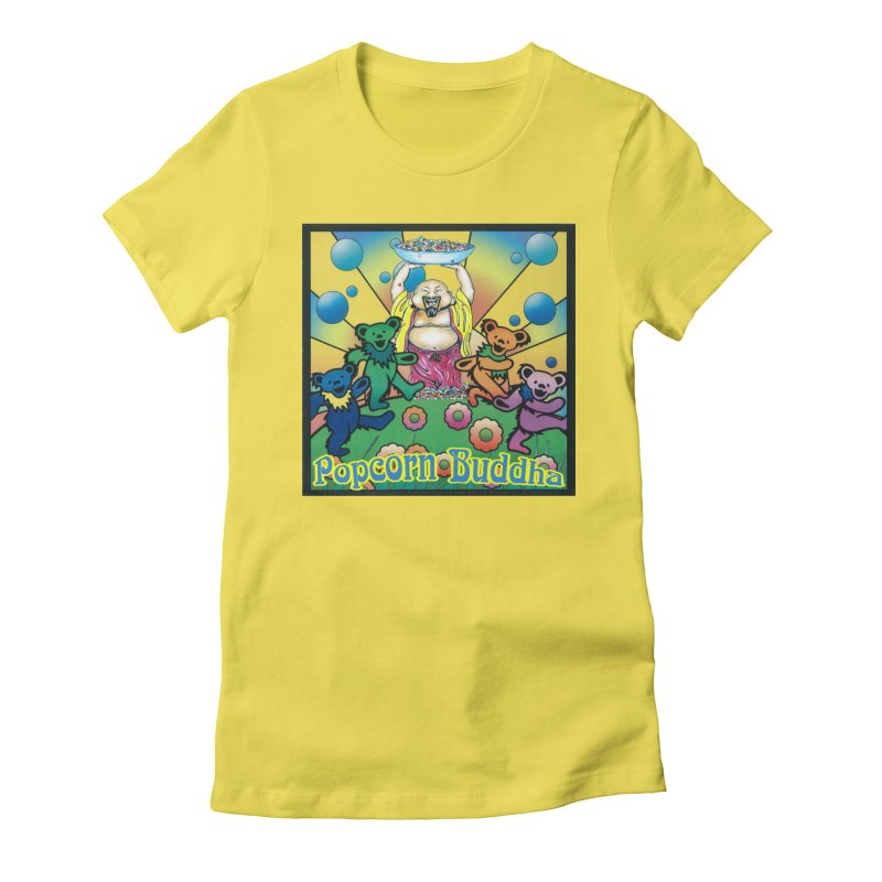 Grateful Popcorn Bears (Great for making your own tie-dye!) Women's T-Shirt by Popcorn Buddha Merchandise