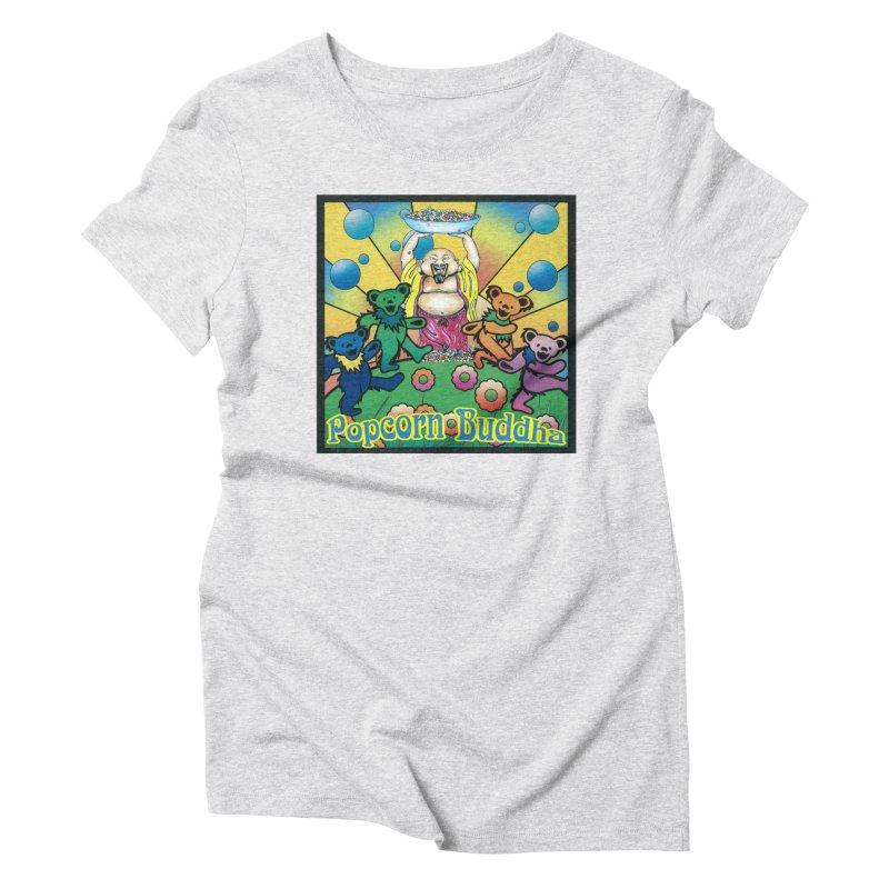 Grateful Popcorn Bears (Great for making your own tie-dye!) Women's T-Shirt by Popcorn Buddha Merchandise